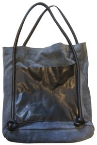 Topshop Tote in Blue and Black