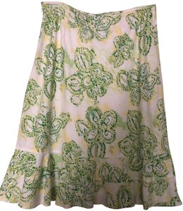 Eddie Bauer Vintage Skirt White/green/yellow