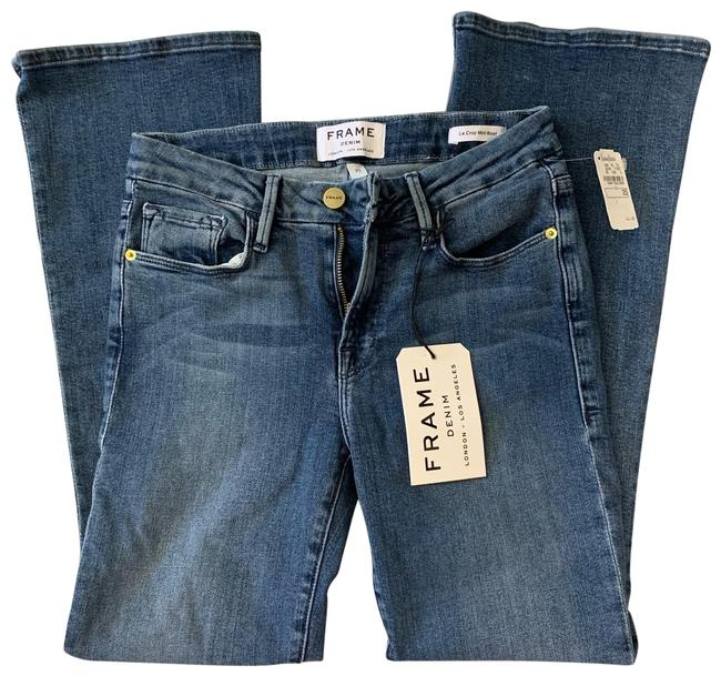 Item - Blue Medium Wash Spring Street Le Crop Mini Boot Style # Lcmb665 Capri/Cropped Jeans Size 25 (2, XS)