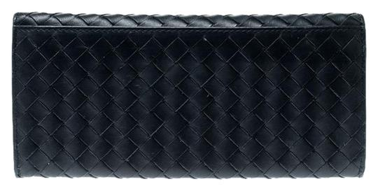 Bottega Veneta Blue Intrecciato Leather Long Wallet Image 0