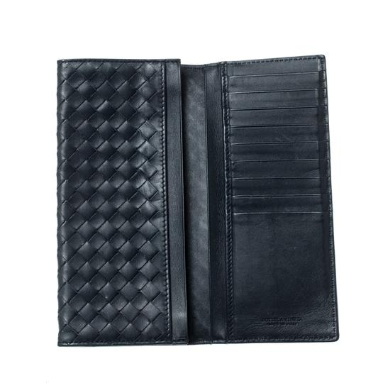 Bottega Veneta Blue Intrecciato Leather Long Wallet Image 1