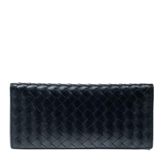Bottega Veneta Blue Intrecciato Leather Long Wallet Image 2