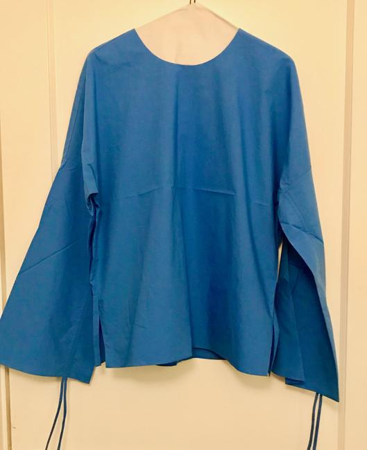Tibi Trendy Bell Sleeves Top Blue Image 1
