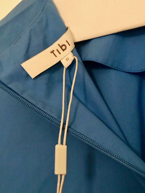 Tibi Trendy Bell Sleeves Top Blue Image 3