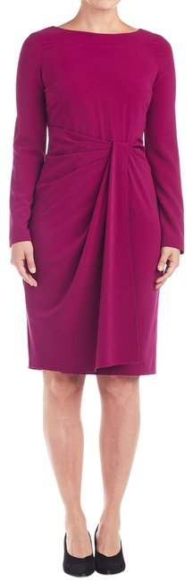 Preload https://img-static.tradesy.com/item/25726453/st-john-magenta-collection-ruched-front-2-103386-mid-length-cocktail-dress-size-2-xs-0-1-650-650.jpg