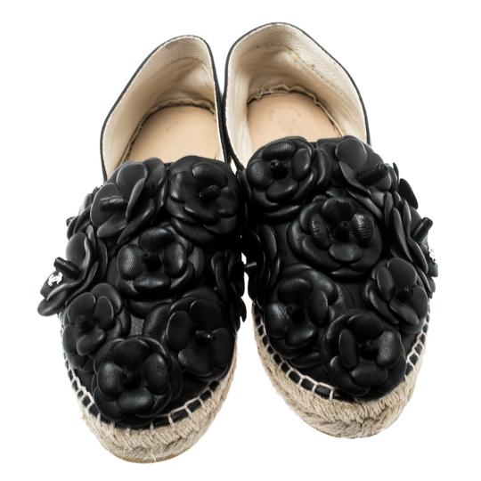 Chanel Leather Rubber Black Flats Image 1