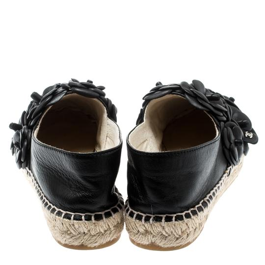 Chanel Leather Rubber Black Flats Image 2