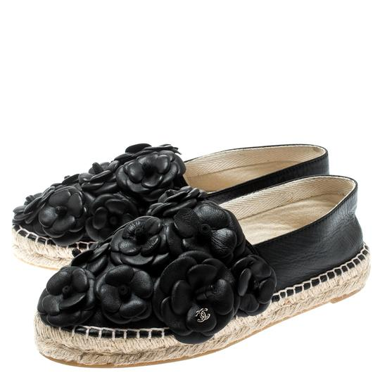Chanel Leather Rubber Black Flats Image 3