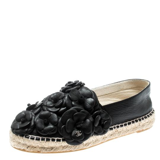 Chanel Leather Rubber Black Flats Image 4