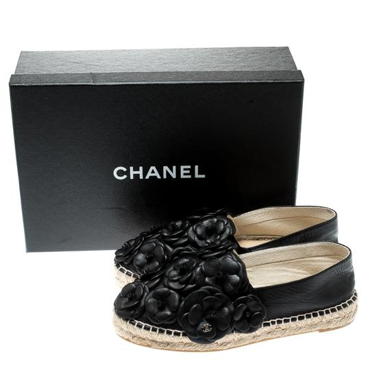Chanel Leather Rubber Black Flats Image 7