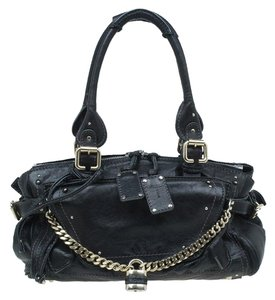 Chloé Leather Paddington Satchel in Black