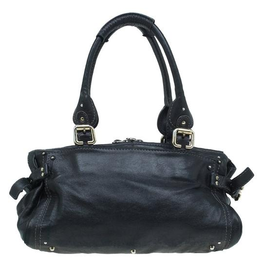 Chloé Leather Paddington Satchel in Black Image 1