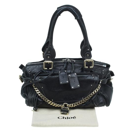 Chloé Leather Paddington Satchel in Black Image 11