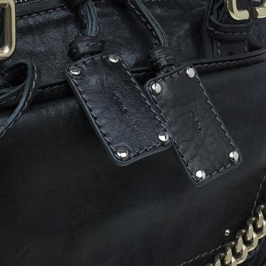 Chloé Leather Paddington Satchel in Black Image 5