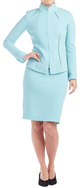 Preload https://img-static.tradesy.com/item/25726511/st-john-turquoise-collection-blue-handsewn-jacket-and-dress-2-103414-skirt-suit-size-2-xs-0-1-650-650.jpg
