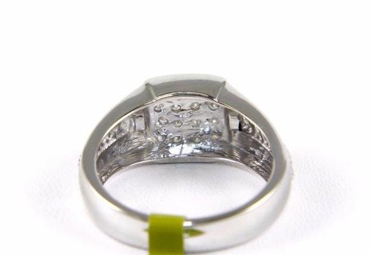 Other Round Diamond Square Cluster Men's Ring Band 14k White Gold .50Ct Image 2