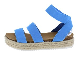 fashion shoes blue Wedges