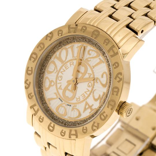 Etienne Aigner Champagne Gold Plated Stainless Steel A26337 Women's Wristwatch 36MM Image 1