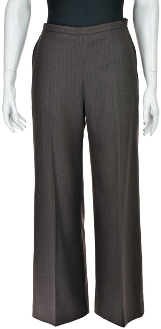 Item - Brown Wool with Pink Pinstripe Pants Size 2 (XS, 26)