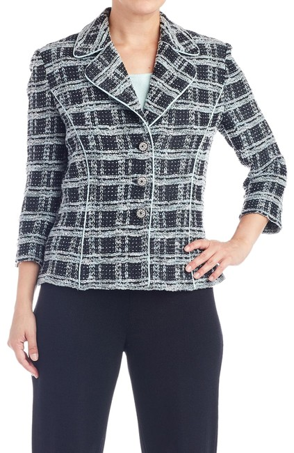 Preload https://item1.tradesy.com/images/st-john-black-collection-plaid-jacket-and-tank-top-set-6p-103443-blazer-size-6-s-25726550-0-1.jpg?width=400&height=650