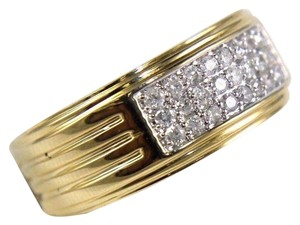 Other Round Diamond Wide Cluster Men's Ring Band 14k Yellow Gold .50Ct
