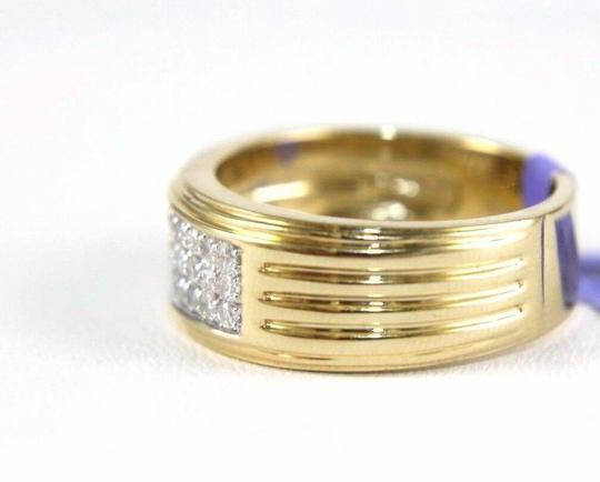 Other Round Diamond Wide Cluster Men's Ring Band 14k Yellow Gold .50Ct Image 1