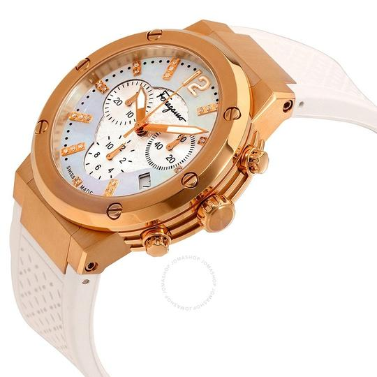 Salvatore Ferragamo Rose Gold Ion Plated Stainless Steel F-80 Women's Wristwatch 39MM Image 1
