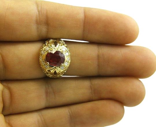 Preload https://img-static.tradesy.com/item/25726639/ruby-oval-red-and-diamond-halo-solitaire-bubbles-14k-yg-313ct-ring-0-2-540-540.jpg