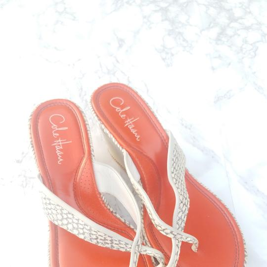 Cole Haan Ivory and orange Wedges Image 2