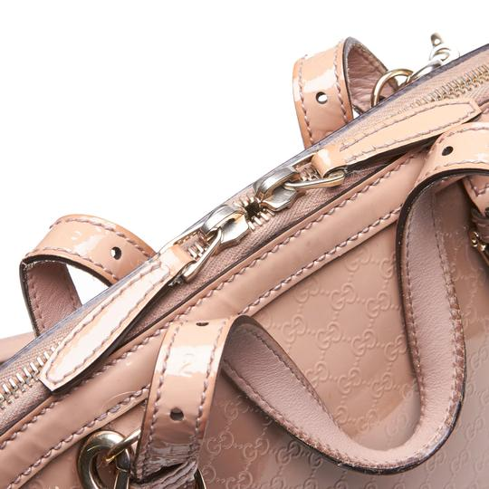 Gucci 9fgust014 Vintage Patent Leather Satchel in Brown Image 10