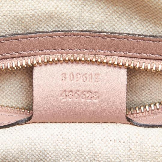 Gucci 9fgust014 Vintage Patent Leather Satchel in Brown Image 7