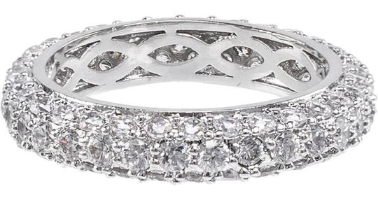 CZ by Kenneth Jay Lane Pave Cz Domed Band Ring Image 1