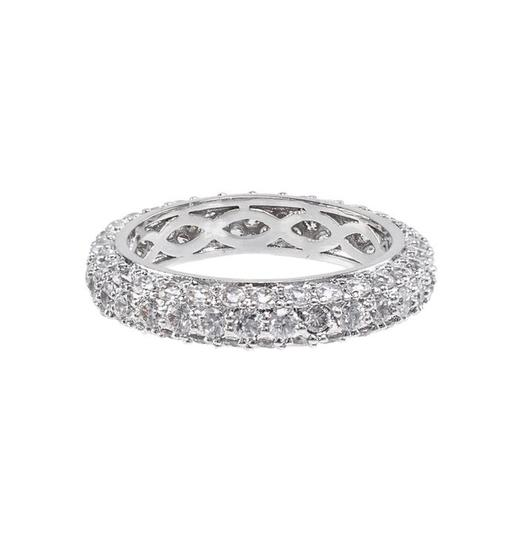 CZ by Kenneth Jay Lane Pave Cz Domed Band Ring Image 2