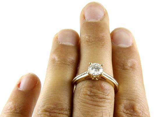 Other Round Moissanite Solitaire Milgrain Lady's Ring 14k Yellow Gold 1.00Ct Image 1