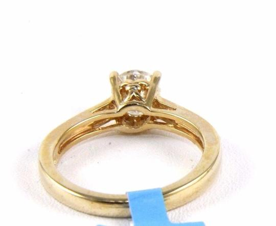 Other Round Moissanite Solitaire Milgrain Lady's Ring 14k Yellow Gold 1.00Ct Image 2