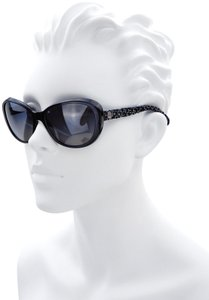 Chanel CH 5241 c.501/T3 Tweed Collection Round Cats Eye Sunglasses 56mm