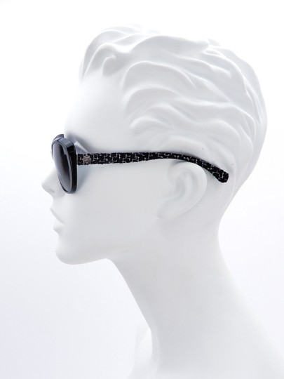 Chanel CH 5241 c.501/T3 Tweed Collection Round Cats Eye Sunglasses 56mm Image 1