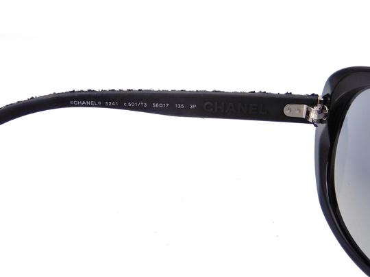 Chanel CH 5241 c.501/T3 Tweed Collection Round Cats Eye Sunglasses 56mm Image 10