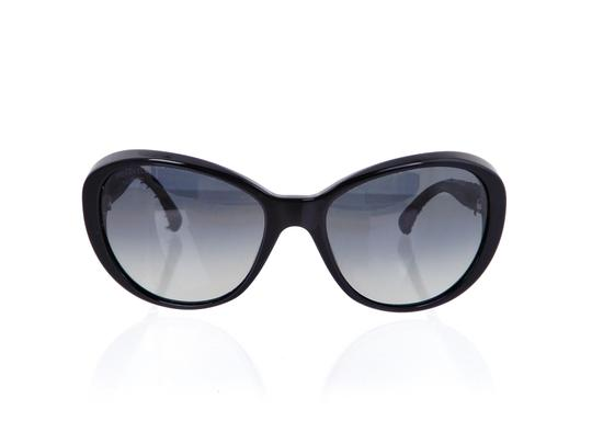 Chanel CH 5241 c.501/T3 Tweed Collection Round Cats Eye Sunglasses 56mm Image 2