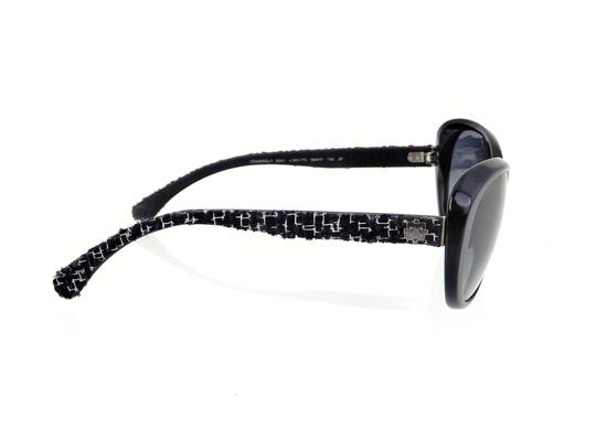 Chanel CH 5241 c.501/T3 Tweed Collection Round Cats Eye Sunglasses 56mm Image 3