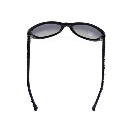 Chanel CH 5241 c.501/T3 Tweed Collection Round Cats Eye Sunglasses 56mm Image 4