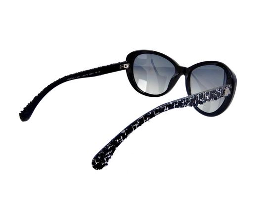 Chanel CH 5241 c.501/T3 Tweed Collection Round Cats Eye Sunglasses 56mm Image 5