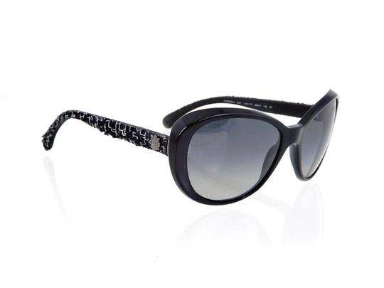 Chanel CH 5241 c.501/T3 Tweed Collection Round Cats Eye Sunglasses 56mm Image 6