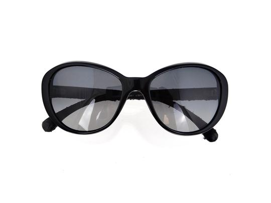 Chanel CH 5241 c.501/T3 Tweed Collection Round Cats Eye Sunglasses 56mm Image 7