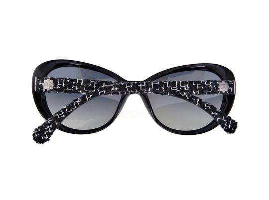 Chanel CH 5241 c.501/T3 Tweed Collection Round Cats Eye Sunglasses 56mm Image 8