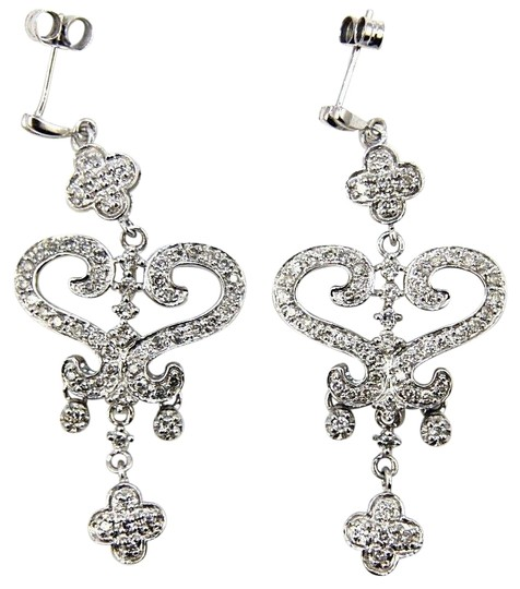 Preload https://img-static.tradesy.com/item/25726721/white-round-diamond-heart-cluster-drop-dangle-14k-gold-50ct-earrings-0-1-540-540.jpg