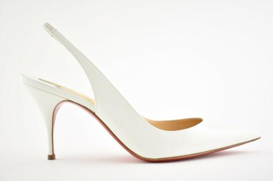 Christian Louboutin Pigalle Follies Stiletto Glitter Classic white Pumps Image 1