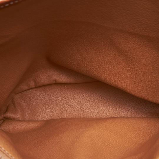 Céline 9cceto007 Vintage Plastic Leather Tote in Brown Image 5