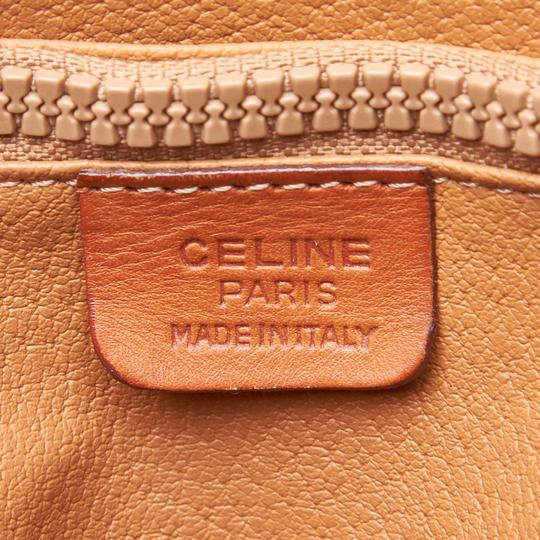 Céline 9cceto007 Vintage Plastic Leather Tote in Brown Image 6