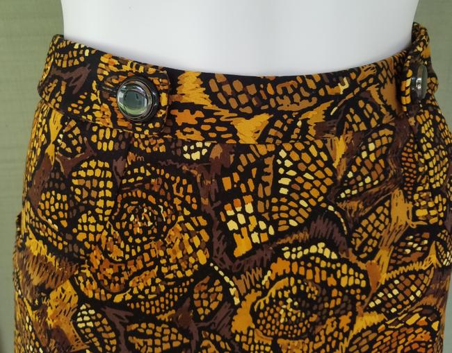 Etcetera Stretch Cotton Pockets Skirt Brown, Black, Gold Image 1